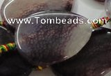 CAG259 15.5 inches 30*40mm flat teardrop dragon veins agate beads