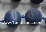 CAG2806 15.5 inches 18mm round matte druzy agate beads whholesale
