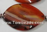 CAG2845 15.5 inches 30*43mm twisted marquise agate gemstone beads