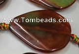 CAG2846 15.5 inches 30*40mm twisted teardrop agate gemstone beads