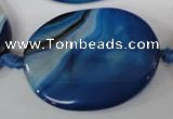 CAG2855 15.5 inches 30*40mm oval agate gemstone beads