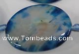 CAG2857 15.5 inches 30*40mm oval agate gemstone beads
