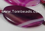 CAG2868 15.5 inches 25*50mm twisted oval agate gemstone beads