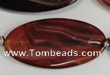 CAG2869 15.5 inches 25*50mm twisted oval agate gemstone beads