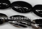 CAG2970 15.5 inches 15*30mm rice black line agate beads