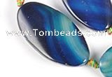 CAG308 21*41mm twisted oval  agate beads Wholesale