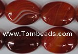 CAG3196 15.5 inches 18*25mm oval red line agate beads