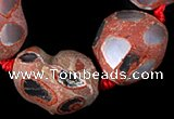 CAG334 nugget shape rough agate gemstone beads Wholesale