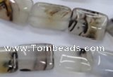 CAG3343 15.5 inches 13*18mm rectangle natural grey agate beads