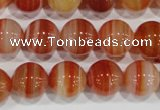CAG3591 15.5 inches 16mm round red line agate beads wholesale
