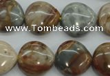 CAG3598 15.5 inches 18*18mm heart Morocco agate beads wholesale
