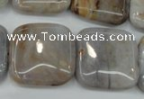 CAG3655 15.5 inches 25*25mm square ocean agate gemstone beads