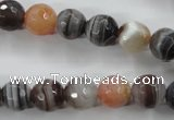 CAG3693 15.5 inches 10mm faceted round botswana agate beads wholesale