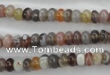 CAG3701 15.5 inches 4*6mm rondelle botswana agate beads wholesale