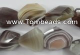 CAG3732 15*18mm � 20*23mm faceted freeform botswana agate beads