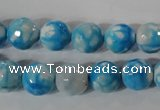CAG3873 15.5 inches 10mm faceted round fire crackle agate beads
