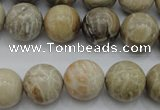 CAG3885 15.5 inches 14mm round chrysanthemum agate beads