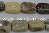 CAG3892 15.5 inches 13*18mm rectangle chrysanthemum agate beads