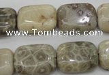 CAG3893 15.5 inches 15*20mm rectangle chrysanthemum agate beads