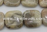 CAG3898 15.5 inches 20*20mm square chrysanthemum agate beads