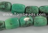 CAG3926 15.5 inches 12*16mm nuggets green grass agate beads