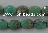CAG3930 15.5 inches 8*10mm faceted oval green grass agate beads