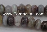 CAG3988 15.5 inches 5*8mm rondelle botswana agate gemstone beads