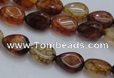 CAG4078 15.5 inches 6*8mm flat teardrop dragon veins agate beads