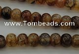 CAG4118 15.5 inches 7*10mm rondelle dragon veins agate beads
