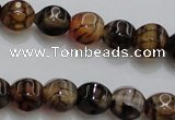 CAG4141 15.5 inches 8*8mm pumpkin dragon veins agate beads