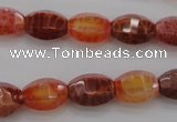 CAG4172 15.5 inches 9*14mm faceted hexahedron natural fire agate beads