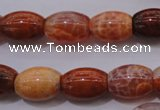 CAG4191 15.5 inches 12*16mm rice natural fire agate beads