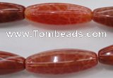 CAG4193 15.5 inches 10*30mm hexahedron natural fire agate beads