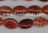 CAG4211 15.5 inches 8*12mm oval natural fire agate beads