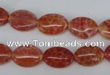 CAG4212 15.5 inches 10*14mm oval natural fire agate beads