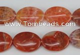 CAG4214 15.5 inches 13*18mm oval natural fire agate beads