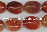 CAG4215 15.5 inches 15*20mm oval natural fire agate beads