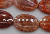 CAG4217 15.5 inches 22*30mm oval natural fire agate beads