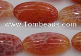 CAG4218 15.5 inches 15*30mm oval natural fire agate beads
