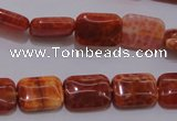 CAG4224 15.5 inches 10*14mm rectangle natural fire agate beads