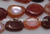 CAG4230 15.5 inches 12*16mm - 14*19mm freeform natural fire agate beads