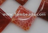 CAG4235 15.5 inches 20*20mm diamond natural fire agate beads