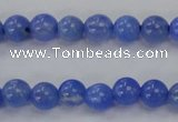CAG4300 15.5 inches 4mm round dyed blue fire agate beads