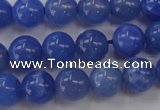 CAG4301 15.5 inches 6mm round dyed blue fire agate beads