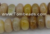 CAG4332 15.5 inches 8*14mm rondelle botswana agate gemstone beads