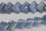 CAG4396 15.5 inches 12*12mm diamond dyed blue lace agate beads