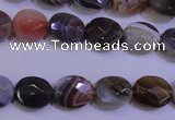 CAG4461 15.5 inches 10*12mm faceted oval botswana agate beads