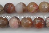 CAG4473 15.5 inches 10mm faceted round pink botswana agate beads