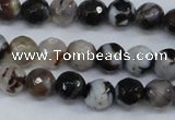 CAG4490 15.5 inches 6mm faceted round agate beads wholesale