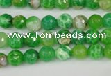 CAG4496 15.5 inches 8mm faceted round fire crackle agate beads
